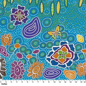 Summertime Rainforest Blue - Designed by Heather Kennedy