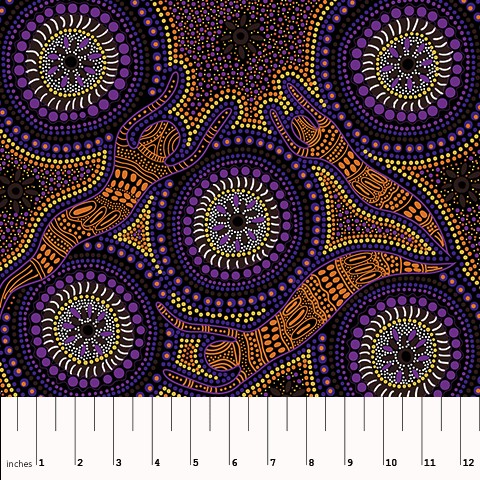 Winter Spirits Purple - Designed by Faye Oliver