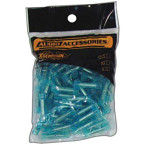 *BC1614NB *BUTT CONNECTORS 14-16GA. 100 PC; BLUE; XSCORPION