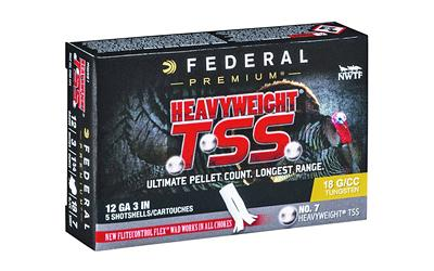 "Federal Heavyweight TSS 12 Gauge Ammunition 5 Rounds 3"" #7"