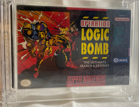 Operation Logic Bomb Super Nintendo SNES Jaleco 1993 - WATA 8.5 A