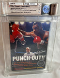 Mike Tyson's Punch Out!! 1st Release White Bullets - No Rev-A - Complete in Box WATA Games 7.5