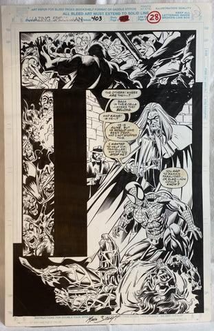 Mark Bagley  Amazing Spider-Man #403 pg. 28 Splash Page Original Comic Book Art