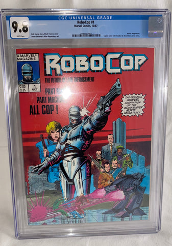 Robocop #1 (October Copy) CGC. 9.8 with White Pages - 1st Appearance in Comic Format
