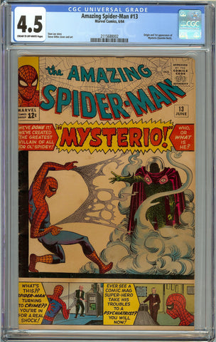Amazing Spider-Man #13 CGC 4.5 Cream to Off-White Pages - 1st Mysterio