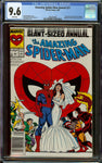 Amazing Spider-Man Annual #21 MJ Wedding Newsstand Copy CGC 9.6 White Pages