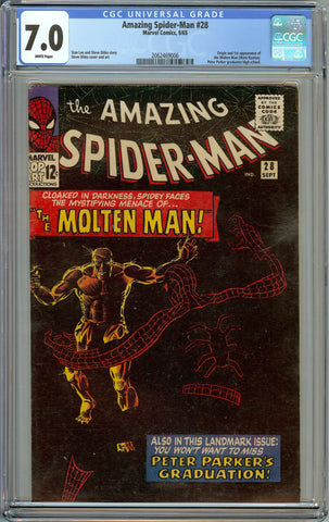 Amazing Spider-Man #28 CGC 7.0 with White Pages - 1st Appearance of Molten Man (Mark Raxton)