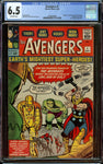 Avengers #1 CGC 6.5 OW - Origin + 1st Appearance of the Avengers