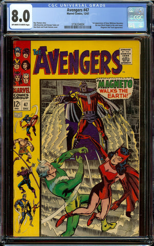 Avengers #47 CGC 8.0 OW/W - 1st Appearance of Dane Cook (who becomes Black Knight)