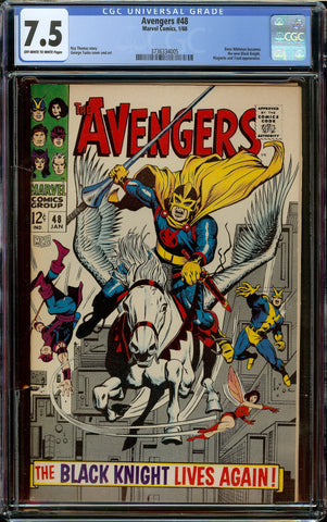 Avengers #48 CGC 7.5 OW/W - 1st Appearance the New Black Knight (Dane Cook)