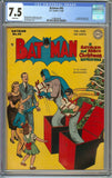 Batman #45 CGC 7.5 with White Pages - Catwoman - Christmas Cover