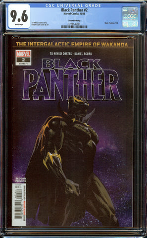 Black Panther #2 2nd Print (2018) CGC 9.6 WP - 1st Killmonger Symbiote