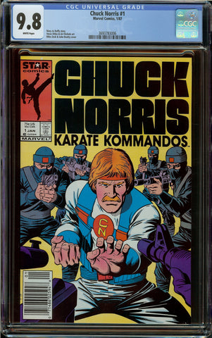 Chuck Norris: Karate Kommandos #1 Newsstand Copy CGC 9.8 White Pages