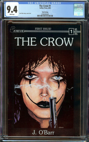 The Crow #1 3rd Print CGC 9.4 with White Pages - Caliber Press 1990
