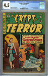 Crypt of Terror #17 CGC 4.5 with Off-White Pages - 1st Issue - Johnny Craig Cover