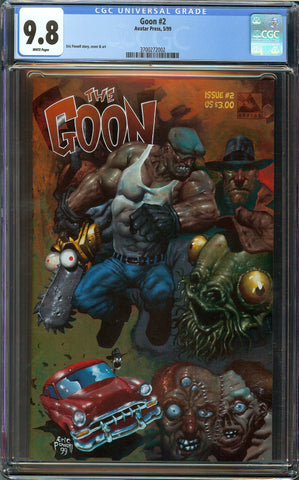 The Goon #2 Eric Powell 1st Print Avatar 1999 CGC 9.8 with White Pages