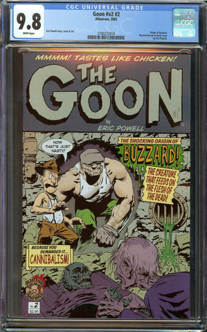 Goon Vol. 2 #2 Eric Powell Albatross 1st Print (2002) CGC 9.8 White Pages - Origin of Buzzard