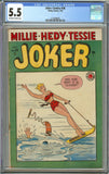 Joker Comics #38 CGC 5.5 with Off-White to White Pages - Millie, Hedy, and Tessie