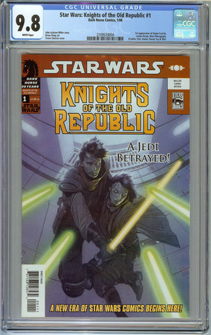 Star Wars: Knights of the Old Republic #1 CGC 9.8 with White Pages - 1st Zayne Carrick and Many More