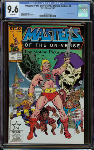 Masters of the Universe MTU The Motion Pictures He-Man #1 CGC 9.6 with White Pages