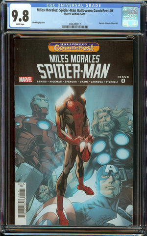 Miles Morales: Spider-Man Halloween ComicFest #0 CGC 9.8 WP - Reprints Ultimate Fallout #4