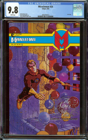 Miracleman #24 CGC 9.8 White Pages - Neil Gaiman - Barry Smith Cover - Last Issue