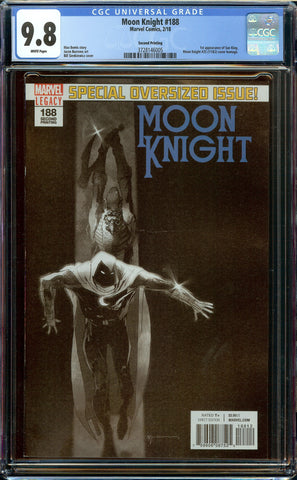 Moon Knight #188 2nd Print (2018) CGC 9.8 WP #25 Homage - 1st Sun King - Only 3 Graded by CGC