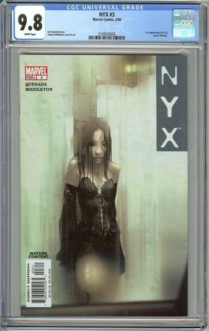 NYX #3 1st Print CGC 9.8. with White Page - 1st Appearance of X-23 (Wolverine's Daughter)