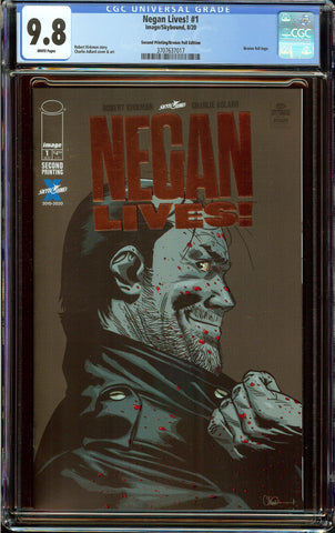 Negan Lives #1 2nd Print Bronze Foil Variant CGC 9.8 with White Pages