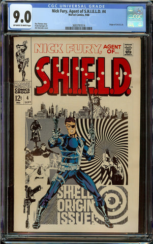 Nick Fury: Agent of SHIELD CGC Graded 9.0 Off-White to White Pages - Origin - Jim Steranko Cover