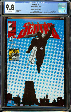 Sentry #1 (2000) SDCC Variant CGC 9.8 White Pages - 1st Appearance