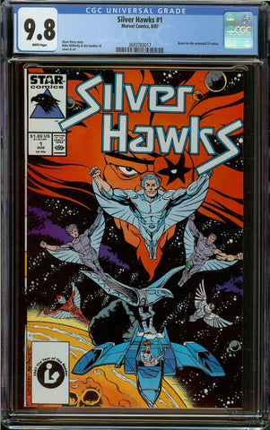 Silver Hawks #1 CGC 9.8 White Pages - 1st Appearance in Comics - Marvel Comics 1987