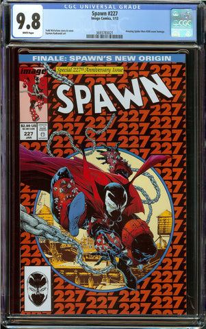 Spawn #227 1st Print CGC 9.8 White Pages - Todd McFarlane Amazing Spider-Man #300 Homage