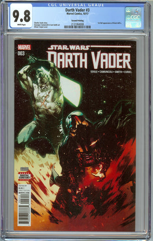 Darth Vader #3 (2017) 2nd Print CGC 9.8 with White Pages - 1st Appearance of Kirak Infil'a