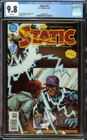 Static #31 DC Comics CGC 9.8 White Pages - Only 9.8 Copy