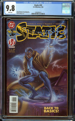 Static #32 DC Comics CGC 9.8 White Pages - Only 2 9.8 Copies