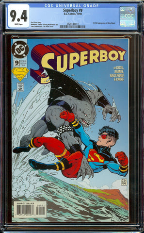 Superboy #9 (1994) CGC 9.4 WP - 1st Appearance of King Shark (Suicide Squad)