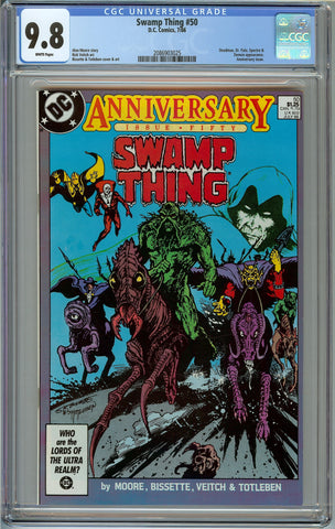 Swamp Thing #50 CGC 9.8 with White Pages - 1st Justice League Dark