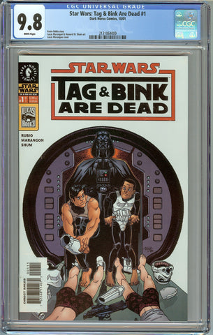 Star Wars: Tag and Bink Are Dead #1 1st Print CGC 9.8 with White Pages - 1st Appearance