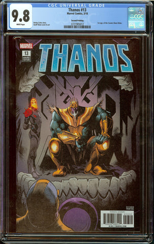 Thanos #13 (2016) 2nd Print CGC 9.8 White Pages - 1st Appearance of Cosmic Ghost Rider