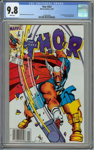 Thor #337 1st Print Newsstand Copy CGC 9.8 with White Pages - 1st Appearance of Beta Ray Bill
