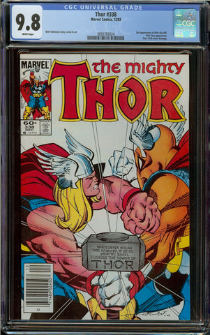 Thor #338 Newsstand Copy CGC 9.8 with White Pages - 2nd Beta Ray Bill - Thor 126 Homage Cover
