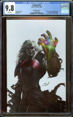 Venom #27 (2020) Skan White Virgin Variant CGC 9.8 WP Knull Cover 1st Full Codex