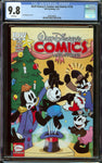 Walt Disney Comics and Stories #726 Cover A and Subscription Cover Lot - Both CGC 9.8 with White Pages - 1st Appearance of Oswald the Lucky Rabbit