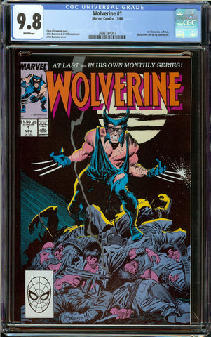 Wolverine #1 (1988) CGC 9.8 White Pages - 1st Appearance as Patch - 1st Issue of On-Going Series