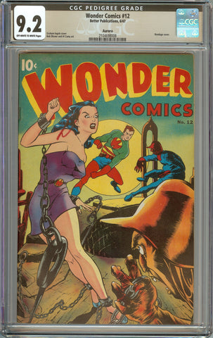 Wonder Comics #12 Aurora Pedigree Copy CGC 9.2 with Off-White to White Pages