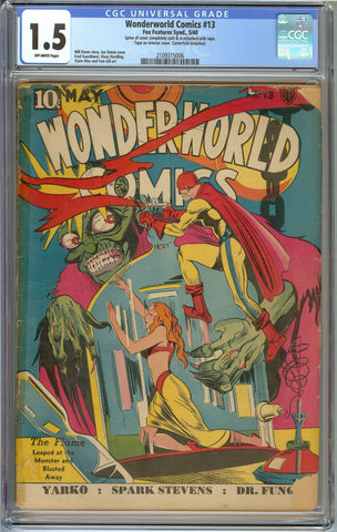 Wonderworld Comics #13 CGC 1.5 with Off-White Pages - Classic Joe Simon Cover