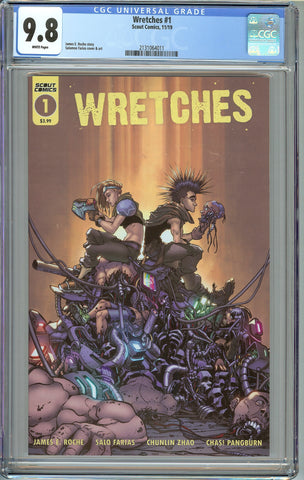 Wretches #1 CGC 9.8 with White Pages - Scout Comics 2019