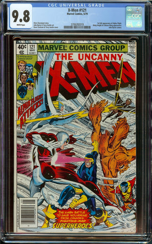 X-men #121 CGC 9.8 with White Pages - 1st Full Appearance of Alpha Flight