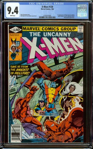 X-men #129 CGC 9.4 White Pages - 1st Appearance of Kitty Pryde + Emma Frost